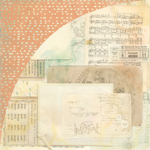 BasicGrey - Serenade Collection - 12 x 12 Double Sided Paper - Parlor