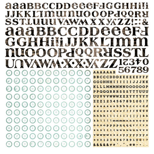 BasicGrey - Serenade Collection - 12 x 12 Alphabet Stickers