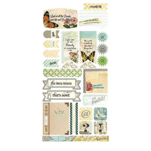 BasicGrey - Serenade Collection - Cardstock Stickers - Titles