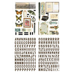 BasicGrey - Serenade Collection - Adhesive Chipboard - Shapes and Alphabets