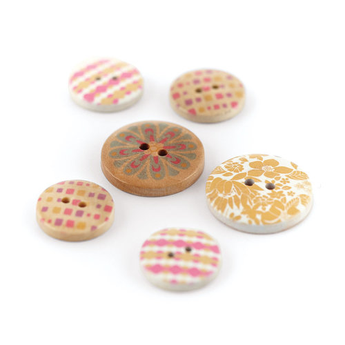 BasicGrey - Soleil Collection - Wooden Buttons