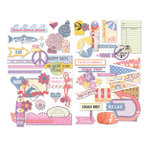 BasicGrey - Soleil Collection - Die Cut Cardstock Pieces - Shapes