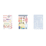 BasicGrey - Soleil Collection - Adhesive Chipboard - Shapes and Alphabets