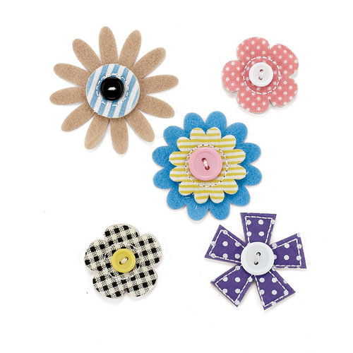 BasicGrey - Soleil Collection - Bloomers - Fabric Flowers