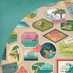BasicGrey - South Pacific Collection - 12 x 12 Double Sided Paper - Bora Bora
