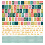 BasicGrey - South Pacific Collection - 12 x 12 Cardstock Stickers - Alphabet