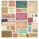 BasicGrey - South Pacific Collection - 12 x 12 Cardstock Stickers - Tickets