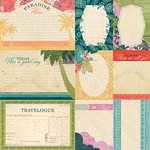 BasicGrey - South Pacific Collection - 12 x 12 Double Sided Paper - Journal Cards