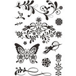BasicGrey - Urban Prairie Collection - Clear Acrylic Stamp - Wild Flowers