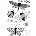 BasicGrey - Wisteria Collection - Clear Acrylic Stamps - Dragonfly