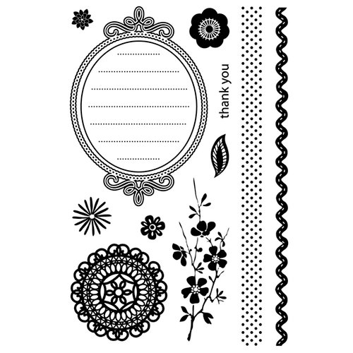 BasicGrey - Nook and Pantry Collection - Clear Acrylic Stamps - Crumpets, CLEARANCE