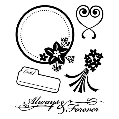 BasicGrey - Cappella Collection - Clear Acrylic Stamps - Forever Bitsy, CLEARANCE
