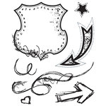 BasicGrey - Oliver Collection - Clear Acrylic Stamps - Shield Bitsy, CLEARANCE