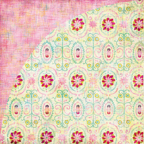 BasicGrey - Sweet Threads Collection - 12 x 12 Double Sided Paper - Lacy Organic