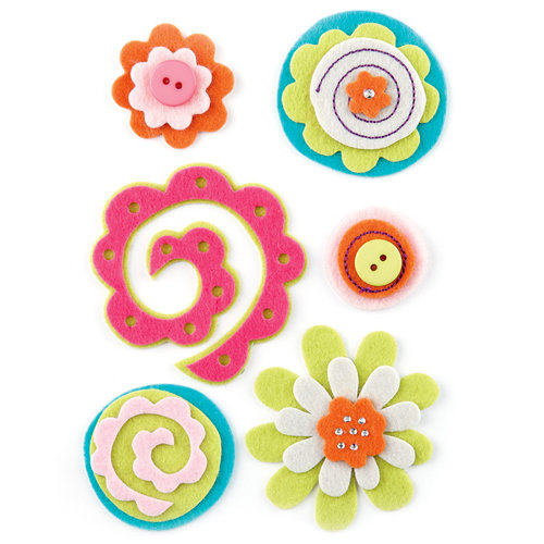 BasicGrey - Sweet Threads Collection - Woolies - 3 Dimensional Felt Stickers