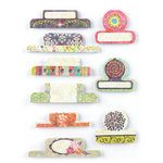 BasicGrey - Sweet Threads Collection - Office Tabs - Self Adhesive Paper Labels