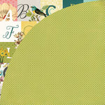 BasicGrey - Tea Garden Collection - 12 x 12 Double Sided Paper - Green Tea