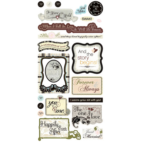 BasicGrey - Cardstock Stickers - Wedding Title