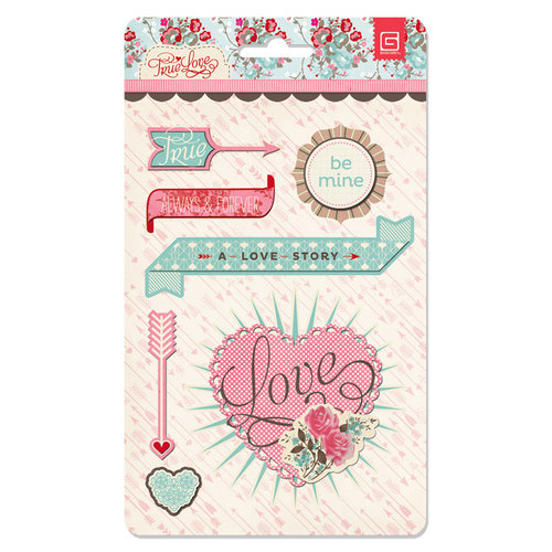 BasicGrey - True Love Collection - Layered Stickers