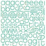 BasicGrey - Urban Prairie Collection - Mini Monogram Stickers - Hip