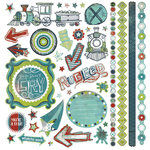BasicGrey - Oliver Collection - 12 x 12 Element Stickers, CLEARANCE