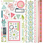 BasicGrey - Olivia Collection - 12 x 12 Element Stickers, CLEARANCE