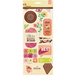 BasicGrey - Vivienne Collection - Printed Chipboard Stickers - Shapes