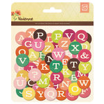BasicGrey - Vivienne Collection - Printed Chipboard Stickers - Letters