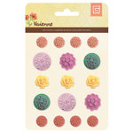 BasicGrey - Vivienne Collection - Resin Flower Stickers