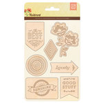 BasicGrey - Vivienne Collection - Laser Wood Stickers