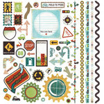 BasicGrey - Wander Collection - 12 x 12 Element Stickers - Shapes, CLEARANCE
