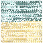 BasicGrey - Wander Collection - 12 x 12 Alphabet Stickers, CLEARANCE