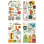 BasicGrey - Wander Collection - Adhesive Chipboard - Shapes, CLEARANCE