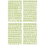 BasicGrey - Wander Collection - Adhesive Chipboard - Alphabet, CLEARANCE