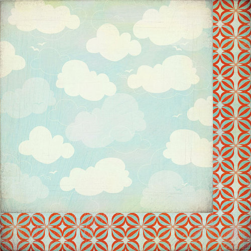 BasicGrey - Whats Up Collection - 12 x 12 Double Sided Paper - Friendly Skies