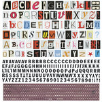 BasicGrey - Whats Up Collection - 12 x 12 Alphabet Stickers