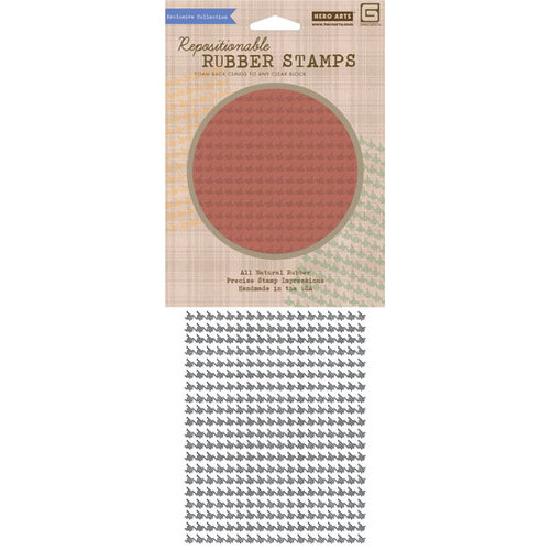 Hero Arts - BasicGrey - Oxford Collection - Clings - Repositionable Rubber Stamps - Dash Pattern