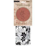 Hero Arts - BasicGrey - Little Black Dress Collection - Clings - Repositionable Rubber Stamps - Large Flower Pattern