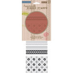 Hero Arts - BasicGrey - Picadilly Collection - Clings - Repositionable Rubber Stamps - Fabulous Patterns