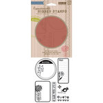 Hero Arts - BasicGrey - Picadilly Collection - Clings - Repositionable Rubber Stamps - Sunflower