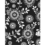 Hero Arts - BasicGrey - PBandJ Collection - Repositionable Rubber Stamps - Flower Table Cloth