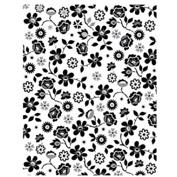 Hero Arts - BasicGrey - Clippings Collection - Repositionable Rubber Stamps - Tiny Flower Background