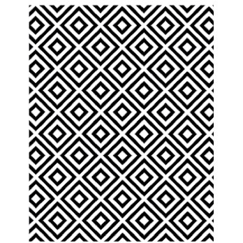 Hero Arts - BasicGrey - Clippings Collection - Repositionable Rubber Stamps - Square Pattern