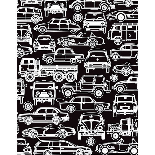 Hero Arts - BasicGrey - Knee Highs and Bow Ties Collection - Repositionable Rubber Stamps - Cars and Trucks Silhouette