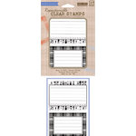 Hero Arts - BasicGrey - Oxford Collection - Poly Clear - Clear Acrylic Stamps - Fun Labels