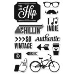 Hero Arts - BasicGrey - Hipster Collection - Poly Clear - Clear Acrylic Stamps - You are Hip