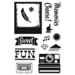 Hero Arts - BasicGrey - Hipster Collection - Poly Clear - Clear Acrylic Stamps - Cheese