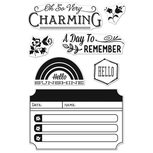 Hero Arts - BasicGrey - Mint Julep Collection - Poly Clear - Clear Acrylic Stamps - Charming