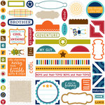 Bella Blvd - Super Stud Collection - 12 x 12 Cardstock Stickers - Label Additions, CLEARANCE