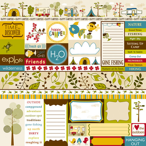 Bella Blvd - Camped Out Collection - 12 x 12 Paper - Bits a Bella, CLEARANCE
